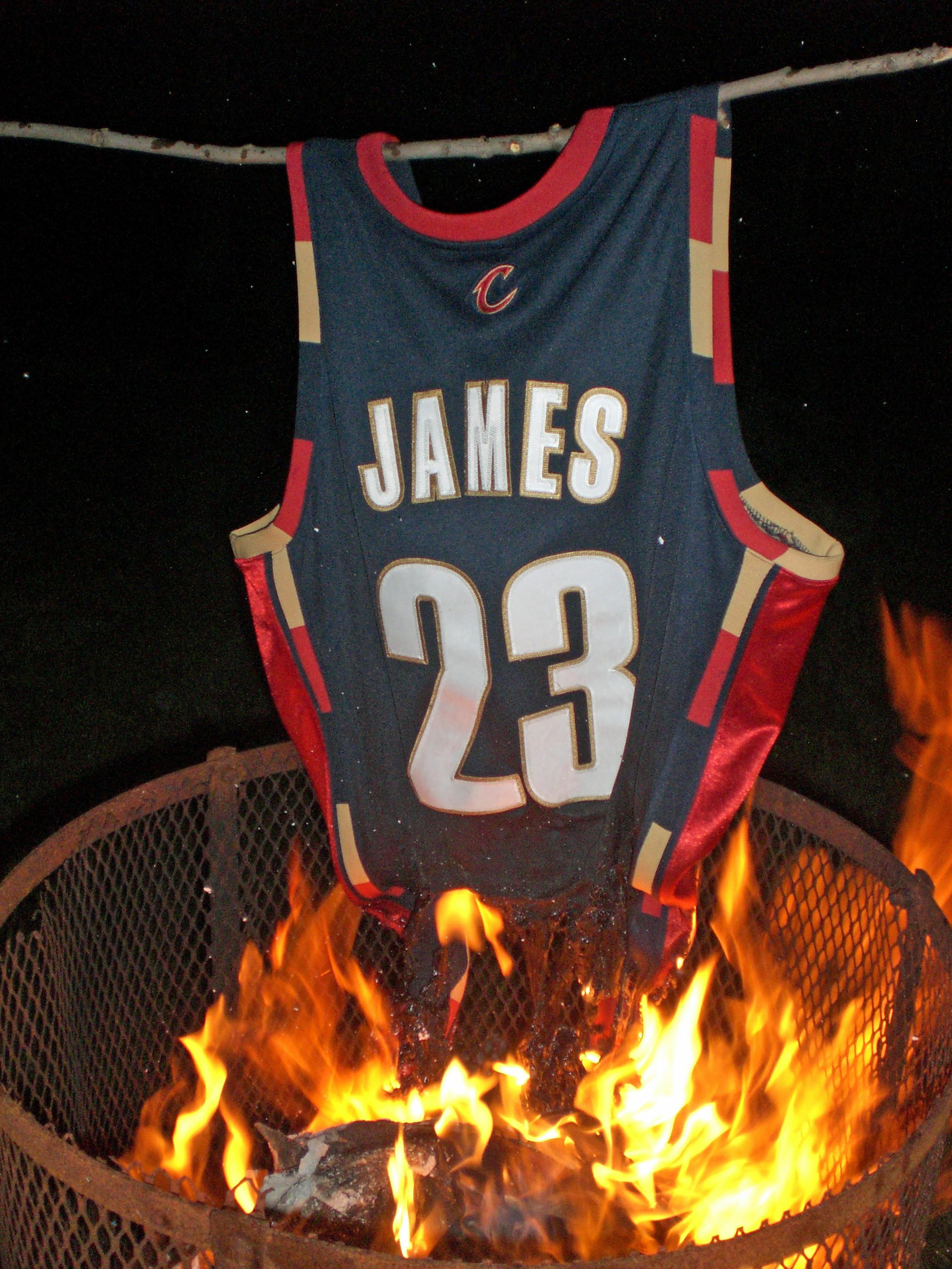 LeBron James jersey burn