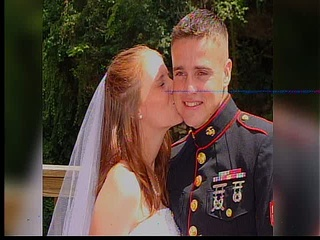 Fallen Marine's wife gives birth to son