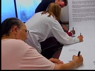 Seniors sign Medicaid petition
