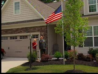 Vet fighting to keep flagpole at house
