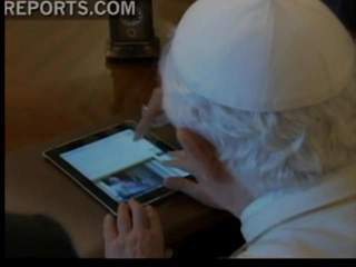 Pope sends out first tweet on his i-pad