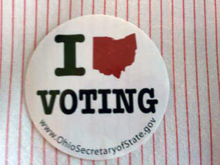 Vote, voting sticker