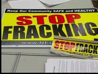 Medina County residents protest fracking