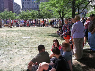 Cleveland Marine Week, dog demonstration, Public Square_20120614142212_JPG