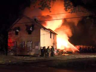 Raw: Colfax house fire