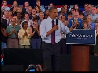 Obama in Cincinnati on July 16, 2012