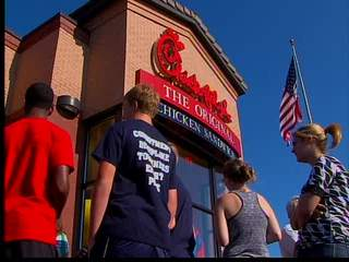 Chick-fil-A crowded for marriage support