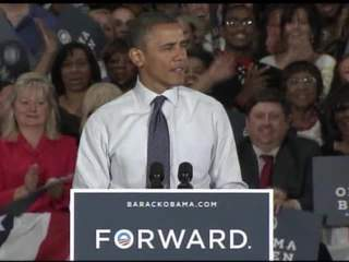 Obama Akron walkup