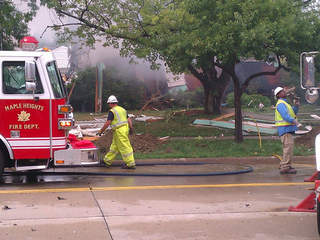 Maple Heights home explosion, Dunham Road, August 14, 2012