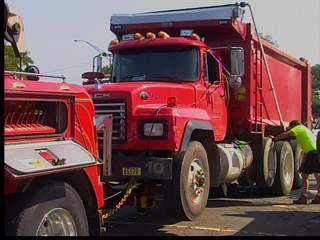 Trucks on Shoreway