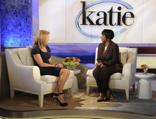 Danita Harris and Katie Couric