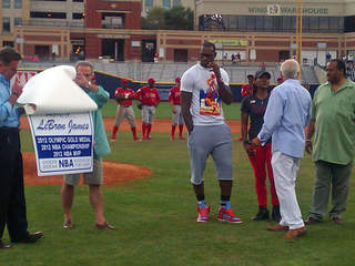 LeBron James honored at Akron Aeros game Aug. 19, 2012