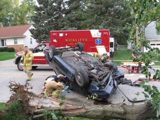 Wickliffe rollover crash