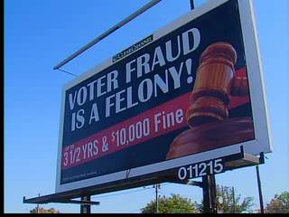 Voting Fraud Billboards