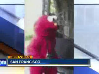 """Evil Elmo"" spotted on San Francisco streets"