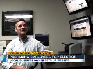 Small Business Owner prepares employees for Election 2012