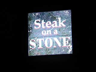 Raw: Steak on a Stone fire
