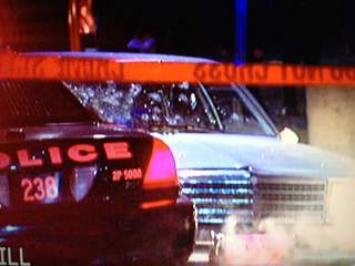 Suspects car in Cleveland chase