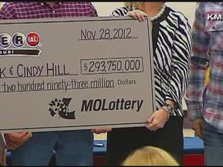 mechanic and his wife - Mark and Cindy Hill - named Powerball winners