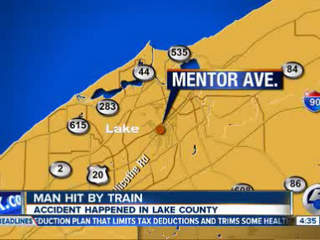 4:30am: Man hit by train