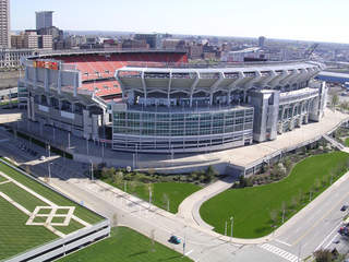 Cleveland Browns Stadium - aerial shot