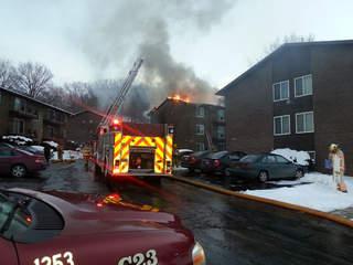 Euclid apartment complex catches fire