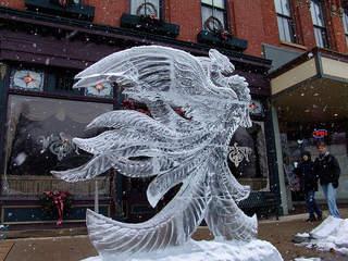 Ice Festival in Medina Ohio