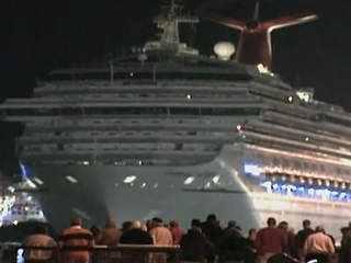Crippled cruise ship