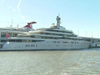 Largest yacht docked in NYC