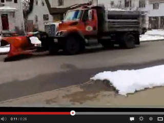 Akron plow plows snowless street