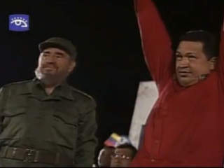 FILE: Hugo Chavez with Fidel Castro