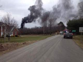 Oil well explosion Chippewa Township