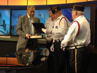Leon Bibb honored by local veterans on March 18, 2013