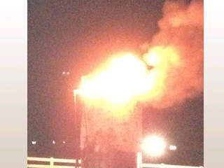 Oil well explosion in Minerva