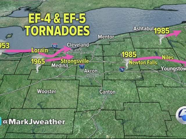 Does Northern Ohio Have A Tornado Alley News Cleveland - Map of northern ohio
