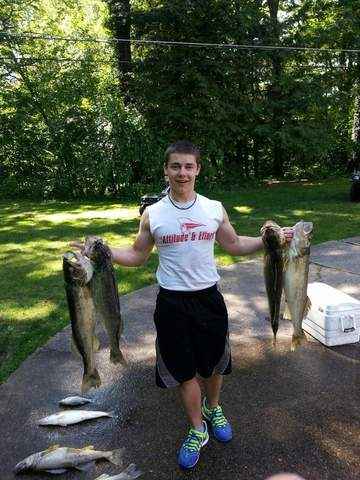 Fishing report channel catfish hitting on portage lakes for Clinton lake fishing report