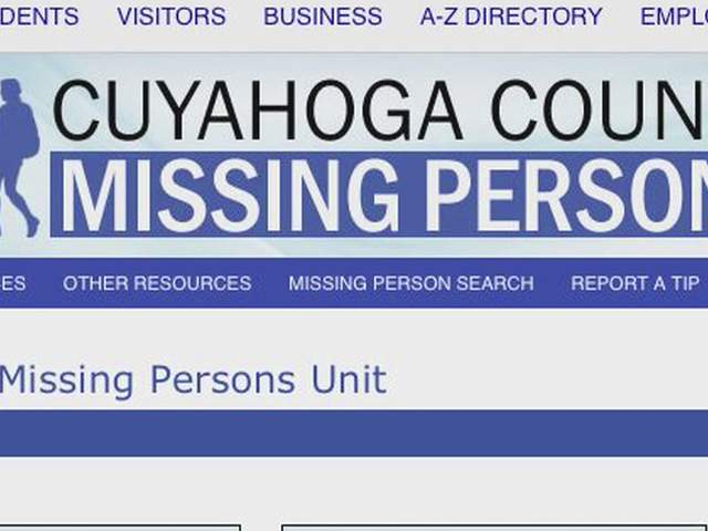 Cuyahoga County missing persons database