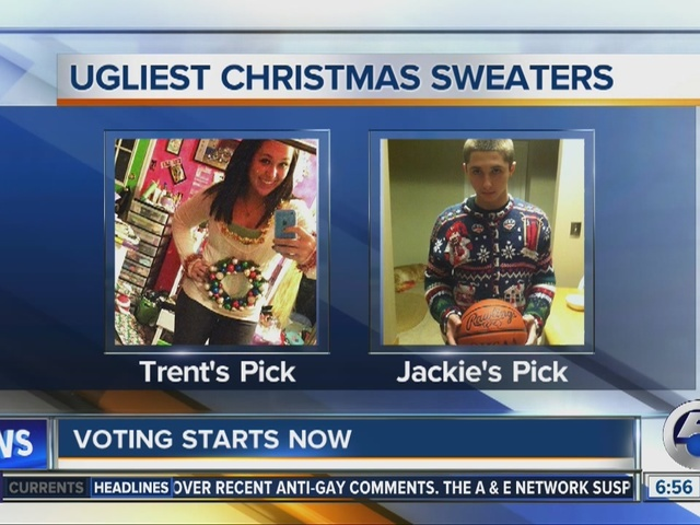 FINAL FOUR: Good Morning Cleveland crew picks finalists for 'Ugliest Christmas Sweater in NE Ohio&#39