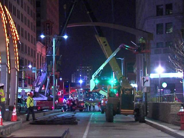 Playhouse Square Chandelier trusses
