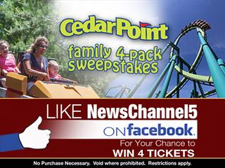 Like WEWS to win 4 tickets to Cedar Point