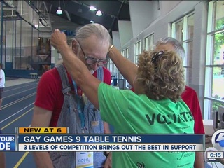 Ping pong competition leads to GG9 medal fun