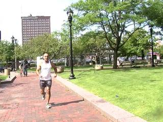 Gay Games marathoner with AIDS inspires others