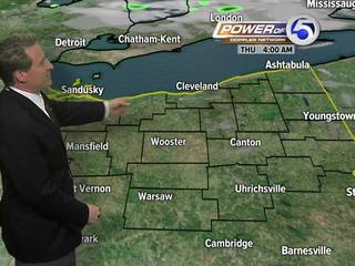 FORECAST: Scattered showers, storms for Thursday