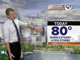 Forecast: Warm, Humid w/ Iso Storms Poss.