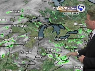 Forecast: Warm, humid for the weekend
