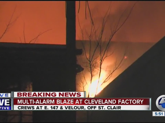 VIDEO: Crews battle fire on CLE's east side