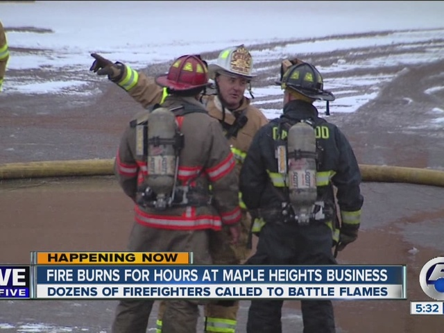Fire blazes at Fannie May Candies