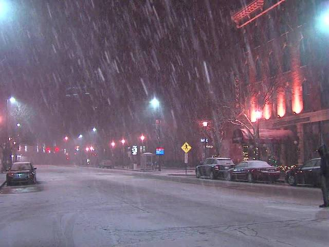 Icy, snow-covered roads cause crashes