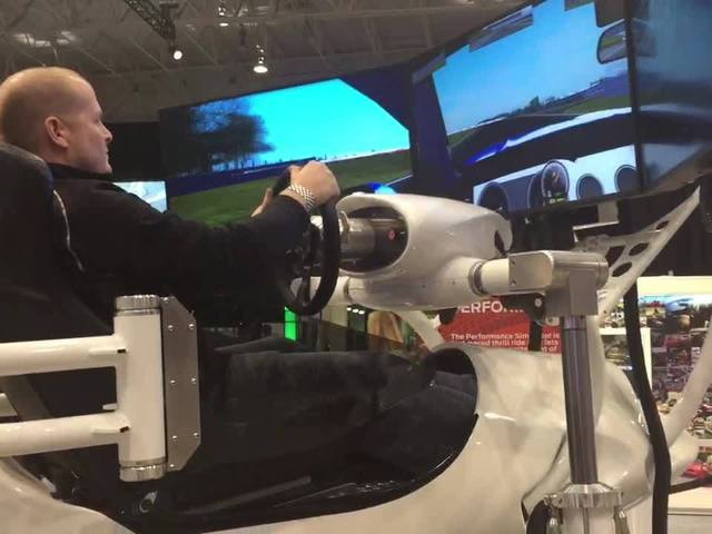 Ford racing simulator at 2015 Cleveland Auto Show