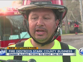VIDEO: Large fire reported in Stark County